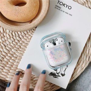 Accessories - Glitter Liquid Quick Sand Airpods 1 2 Pro case